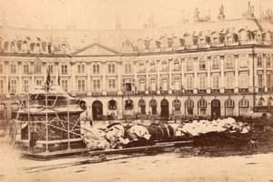 La Commune de Paris Place Vendome Fallen Column old Loubere Photo 1871