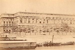 La Commune de Paris La Cour des Comptes Ruins old Loubere Photo 1871