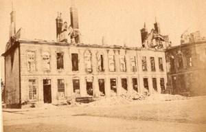 La Commune de Paris L'Arsenal Ruins old Loubere Photo 1871