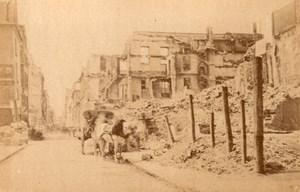 Commune de Paris Caisse des dépôts et consignations Rue de Lille old Photo 1871