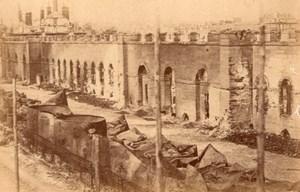 La Commune de Paris Grenier d'Abondance Ruins old Loubere Photo 1871