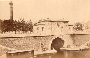 La Commune de Paris La Bastille Colonne de Juillet old Loubere Photo 1871