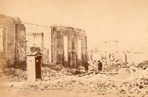 La Commune de Paris Docks de la Vilette Ruins old Loubere Photo 1871