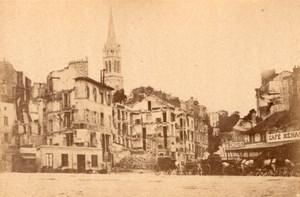 La Commune de Paris Saint Cloud Ruins Church old Loubere Photo 1871