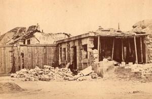 La Commune de Paris Porte de Saint Cloud Ruins old Loubere Photo 1871