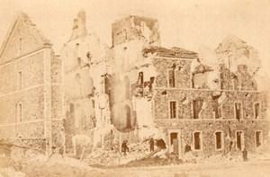 La Commune de Paris Porte d'Issy Ruins old Loubere Photo 1871