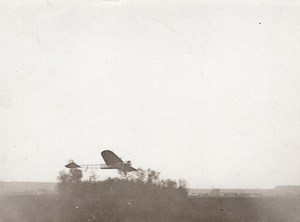 France Aviation Emile Dubonnet on Tellier Monoplane old Rapid Photo 1910