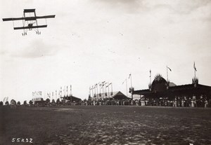 Troyes Aviation Circuit de l'Est Legagneux on Farman Biplane Branger Photo 1910