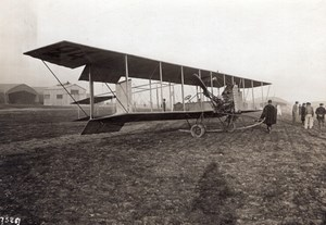 France Aviation Savary Biplane Labor Engine old Rol Photo 1910