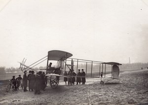Issy-les-Moulineaux Aviation Maurice Clement Bayard Biplane Side old Photo 1909