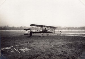 Issy-les-Moulineaux Aviation Maurice Clement Bayard Biplane old Photo 1909