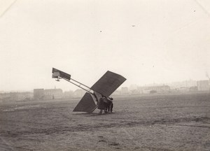 France Issy? Aviation Kauffmann Monoplane Accident old Photo 1910
