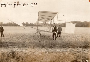 France Aviation Gilbert Aeroplane Gilder? Old Rol Photo 1908
