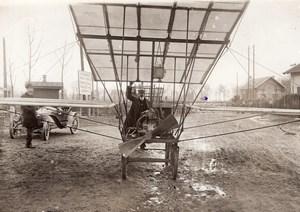 Aviation Emerainville Combault Levy Gaillat Biplane old Branger Photo 1909