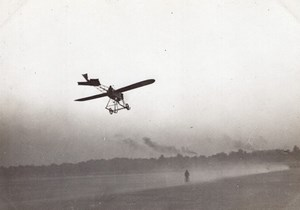 France Issy les Moulineaux? Aviation Vinet Monoplane in Flight old Photo 1911