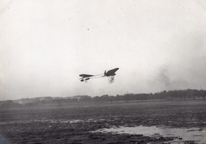 France Aviation Thomann Monoplane in Flight old Photo circa 1910