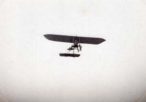 France Aviation High Wing Monoplane in Flight old Photo circa 1910