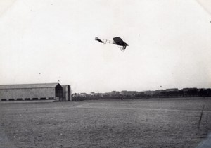 France Aviation Bleriot? Morane Monoplane in Flight old Photo circa 1910