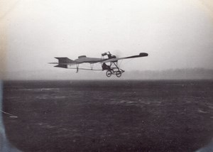France Issy les Moulineaux ? Aviation Vinet Monoplane in Flight old Photo 1910's