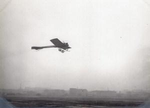 France Issy les Moulineaux ? Aviation Monoplan en Vol Ancienne Photo vers 1910