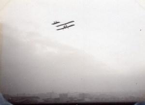 France Aviation Robert Henri Grandseigne? Sur Caudron Ancienne Photo vers 1910