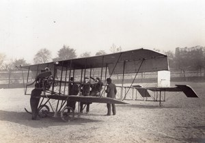 France Paris Aviation Biplane Aviatic Hotel old Photo circa 1910