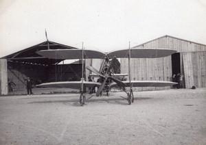 France Aviation Odier Vendome Biplane Hangars old Photo circa 1910
