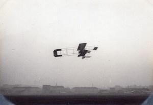 France Aviation Labouchere? Flying Zodiac Biplane old Photo circa 1910
