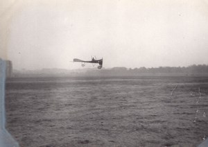 France Aviation Bleriot? Monoplane in Flight old Photo circa 1910