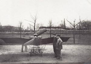 France Aviation Saulnier? Monoplane Front view old Photo circa 1910