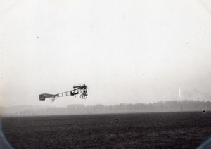 France Aviation Saulnier Monoplane Flying old Photo circa 1910