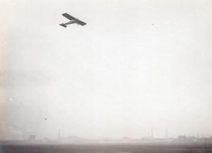 France Aviation Monoplane in Flight old Photo circa 1910
