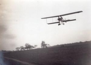 France Aviation Biplan Breguet ? En vol Ancienne Photo vers 1910