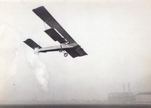 France Issy-les-Moulineaux? Aviation Biplan Sanchez Besa en vol Ancienne Photo 1912