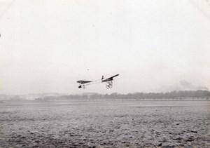 France Aviation Thomann ? Monoplane in Flight old Photo circa 1910