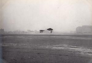 France Issy? Aviation Thomann ? Monoplane in Flight old Photo circa 1910