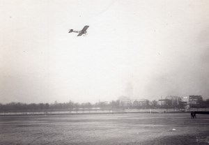 France Issy? Aviation Monoplane in Flight old Photo circa 1910