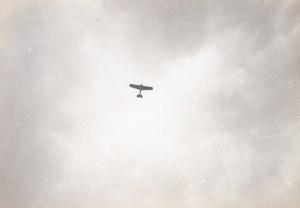 France Aviation Nieuport IV ? Monoplane in Flight old Photo circa 1911