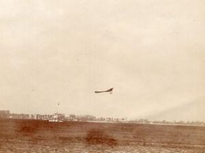 France Aviation Deperdussin Monoplane in Flight old Photo 1910's