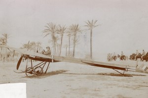 Italy or North Africa? Aviation Cesaroni on Deperdussin old Photo 1910's