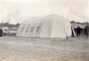 France Military Aviation? Maneuvers Supply Tent old Photo 1910's