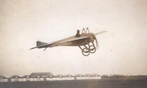 France Reims Aviation Deperdussin? Monoplane in Flight old Photo 1913