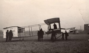 France Aviation Henry Farman No1 Biplane Airplane old Photo 1907