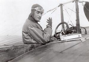France Aviation Rene Vidart dans un Deperdussin? Ancienne Photo Delius 1911