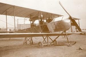 France Aviation Biplan Astra Rene Labouret Ancienne Photo Rol 1912