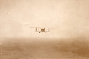 France WWI Aviation Farman F40 Biplane Flying old Photo 1914-1918