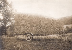 France Chalais Meudon Aviation Covered Monoplane Trailer old Photo 1910's