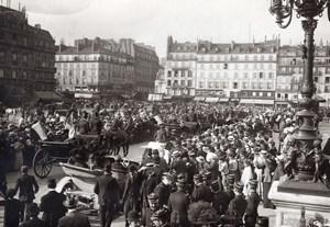 France Paris Hotel de Ville Square Aviation Parade old Rol Photo 1910