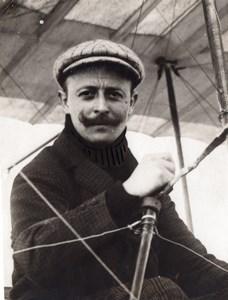 France Aviation Aviator Charles Van den Born old Rol Photo 1910