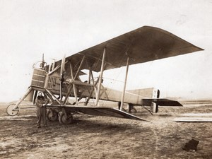 France WWI Military Aviation Salmson-Moineau SM.1 Biplane old Photo 1914-1918
